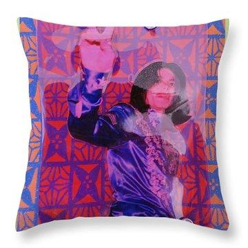 Mj Peace Throw Pillow