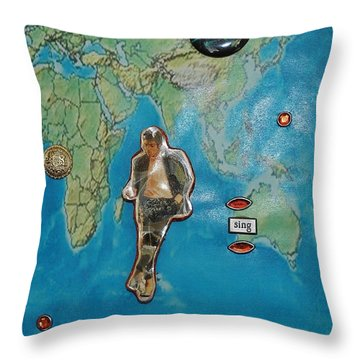 Mj Rock With You Throw Pillow