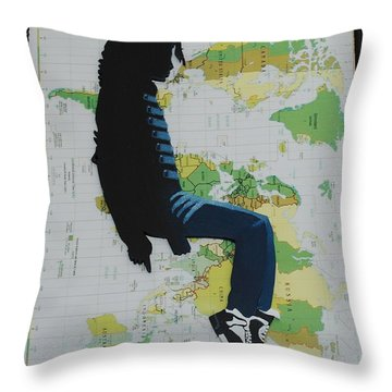Mj They Dont Care Throw Pillow