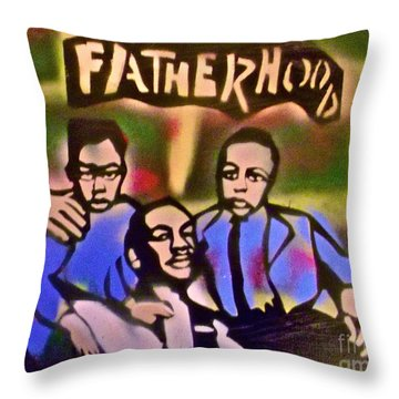 Mlk Fatherhood 2 Throw Pillow by Tony B Conscious
