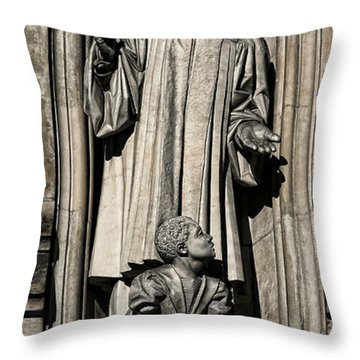 Mlk Memorial Throw Pillow by Stephen Stookey