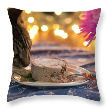 Mmmmmmm Throw Pillow by Juli Scalzi