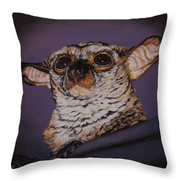 Mo Loves Mommy Throw Pillow by Linda Becker