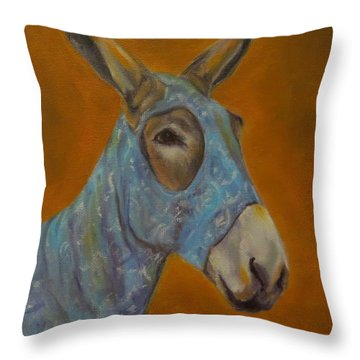 Mo Vision,donkey Throw Pillow