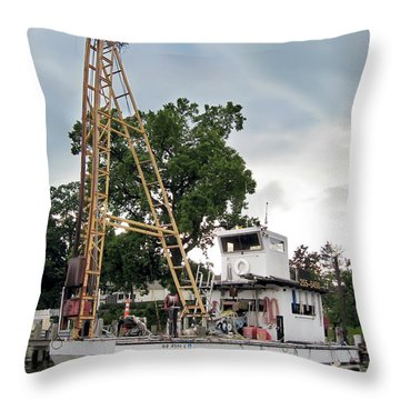 Throw Pillow featuring the photograph Mobile Osprey Nest by Brian Wallace