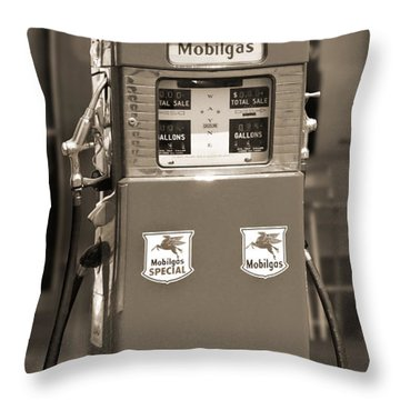 Mobilgas - Wayne Double Gas Pump 2 Throw Pillow