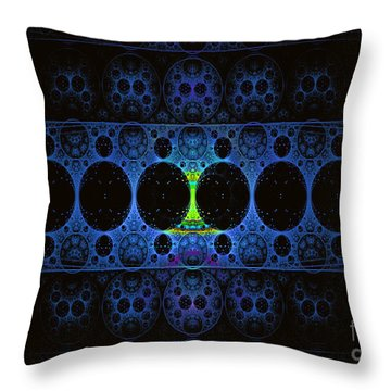 Throw Pillow featuring the digital art Mobius by Melissa Messick