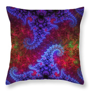 Throw Pillow featuring the digital art Mobius Unleashed by GJ Blackman