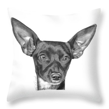 Throw Pillow featuring the drawing Mocha -036 by Abbey Noelle