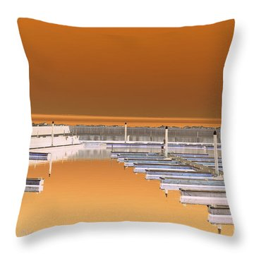 Mocha Dock Throw Pillow