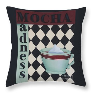 Mocha Madness Throw Pillow by Catherine Holman