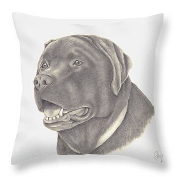 Throw Pillow featuring the drawing Mocha by Patricia Hiltz
