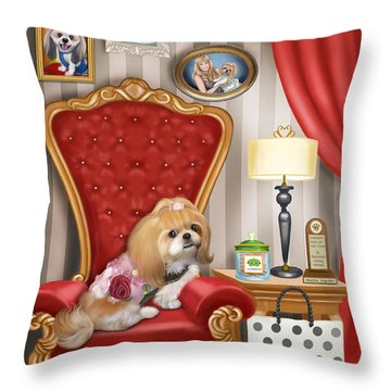 Mocha S Living Room Throw Pillow