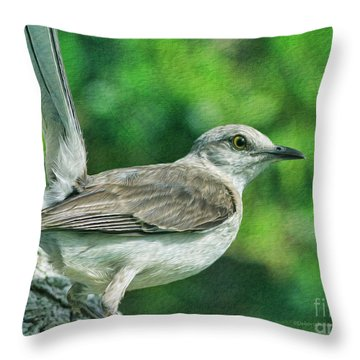 Mockingbird Pose Throw Pillow