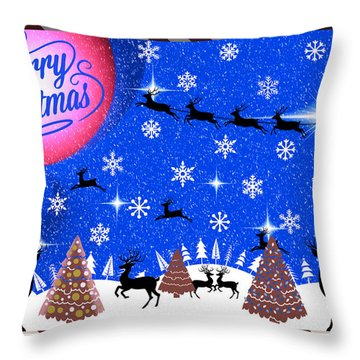 Mod Cards - Reindeer Games - Merry Christmas IIi Throw Pillow