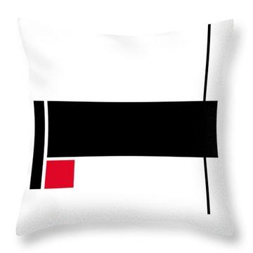 Moda 2 - Modern Art By Sharon Cummings Throw Pillow by Sharon Cummings