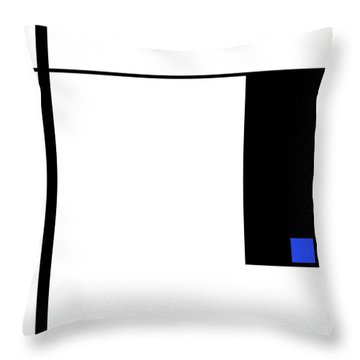 Moda 4 - Modern Art By Sharon Cummings Throw Pillow by Sharon Cummings