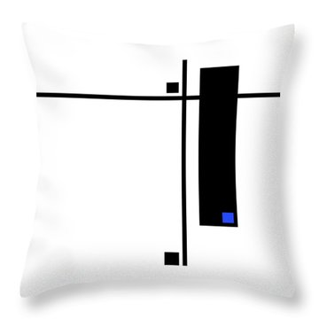 Moda 8 - Modern Art By Sharon Cummings Throw Pillow by Sharon Cummings