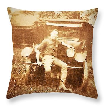 Model A Throw Pillow by Beth Williams