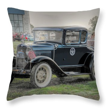 Throw Pillow featuring the photograph Model A Ford  by Dyle   Warren