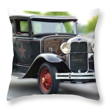Model A Sheriff's Car Throw Pillow