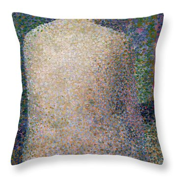Model From The Back Throw Pillow by Georges Pierre Seurat