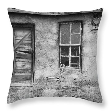 Model Ghost Town Throw Pillow by Anna Villarreal Garbis