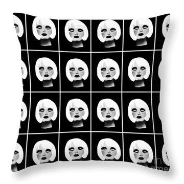 Blonde Beauty Pattern Throw Pillow