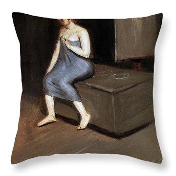 Model Sitting Throw Pillow by Edward Hopper