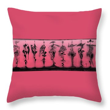 Throw Pillow featuring the painting Tribute To Mr. R Lauren by James Lanigan Thompson MFA
