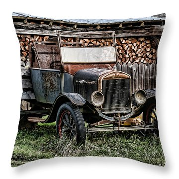 Model T Throw Pillow by Ron Roberts