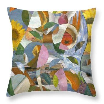modern abstract art - Garden Variety Throw Pillow
