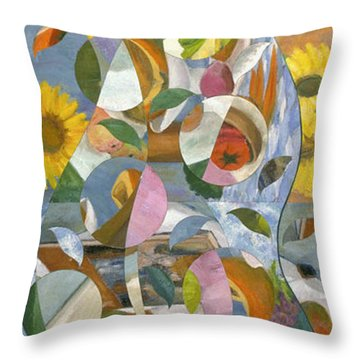 modern abstract art - Garden Variety Throw Pillow
