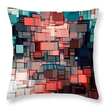 Modern Abstract Ix Throw Pillow by Lourry Legarde