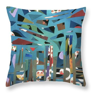 modern abstract painting - Tropical Storm Throw Pillow