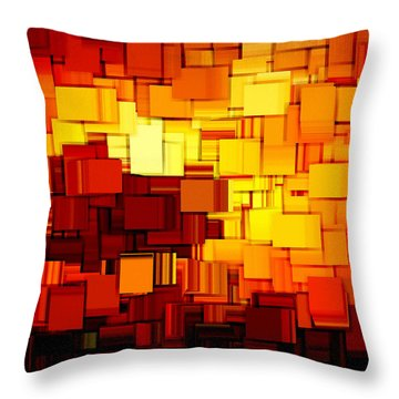 Modern Abstract Xi Throw Pillow