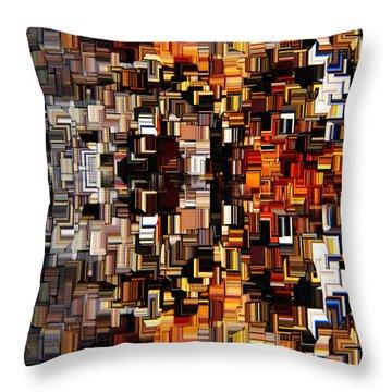 Modern Abstract Xxvii Throw Pillow by Lourry Legarde