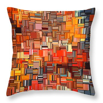 Modern Abstract Xxxi Throw Pillow by Lourry Legarde