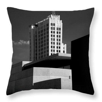 Modern Art Deco Architecture Black White Throw Pillow