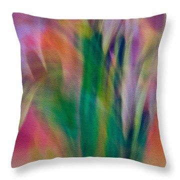Throw Pillow featuring the photograph Modern Art Flower Garden by Susan Leggett