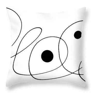 Modern Art - To The Point - By Sharon Cummings Throw Pillow by Sharon Cummings