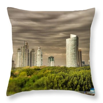 Modern Buenos Aires Tilt Shift Throw Pillow by For Ninety One Days