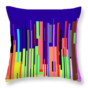Modern Cityscape Throw Pillow