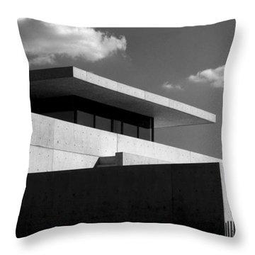 Modern Concrete Architecture Clouds Black White Throw Pillow