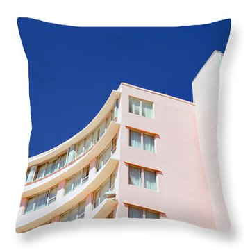 Modern Curves Throw Pillow by Keith Armstrong