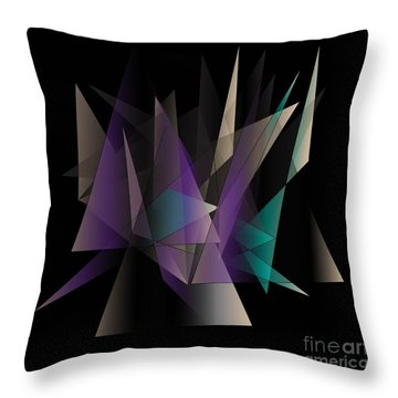 Modern Day Throw Pillow by Iris Gelbart