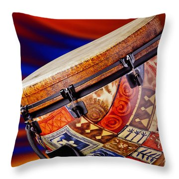 Modern Djembe African Drum Photograph In Color 3336.02 Throw Pillow