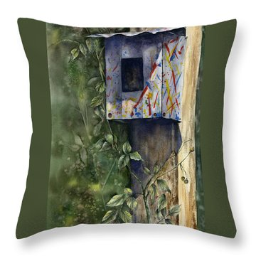 Modern Feathered Friends Throw Pillow