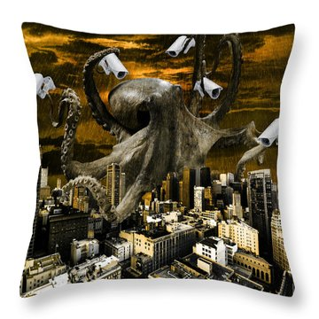 Modern Freedom Throw Pillow by Marian Voicu