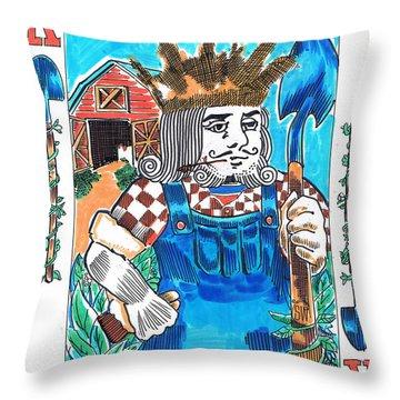 Modern King O' Spades Throw Pillow by Seth Weaver